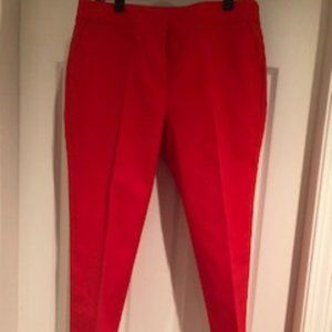Anne Klein EUC sz 8 Red Cotton Pants